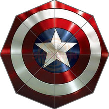 Agradable Nuevo Mejor Diseño de Moda Portátil Con Estilo capitán América Custom Útil Plegable Paraguas Buena Idea de Regalo! Envío Libre