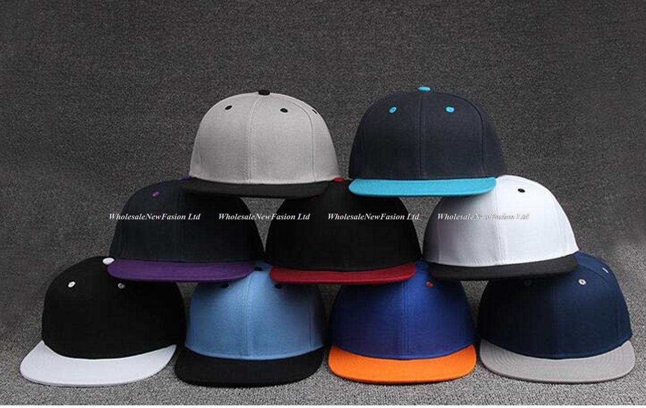 Wholesale 12pcs Cool Two Tone Flat Brim Snapback Hats Men Blank Hat  Baseball Caps Quality Mens Hip Hop Snapback Cap for Sports-in Baseball Caps  from Apparel ... edbb8b140600