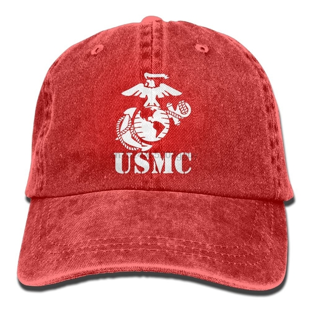 a2eaa2d9117 Eagle Globe Anchor USMC Marine Corps Unisex Adult Adjustable Jeans Dad Hat
