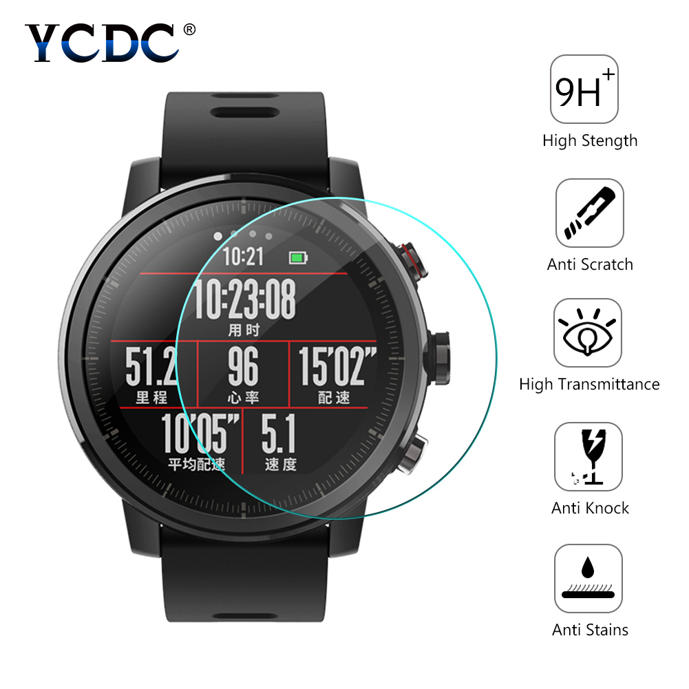Protective-Film Screen-Protector Tempered-Glass Round-Watch Universal for 30mm 36-46mm title=