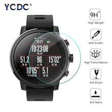 Película protectora Universal de vidrio templado para reloj redondo, Protector de pantalla de reloj inteligente, diámetro de 27mm, 30mm, 32mm, 34mm, 36-46mm