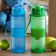 2018 new bpa free 500ml Plastic my water bottle sports outdoor travel equipped space fuirt jiuce kettle Tea Infuser pop-up lid