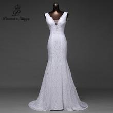 Free shipping very beautiful lace Sexy romantic mermaid wedding dress 2020 backless vestidos de noiva robe de mariage ball gowns