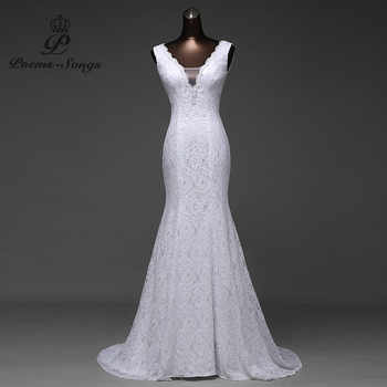 Free shipping very beautiful lace Sexy romantic mermaid wedding dress backless vestidos de noiva robe de mariage ball gowns - DISCOUNT ITEM  39% OFF Weddings & Events