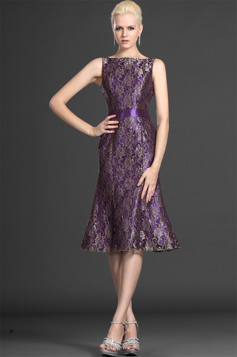 A-line-knee-length-1three-quarter-short-lace-purple-gorgrous-plus-size-wedding-guest-outfits-purple