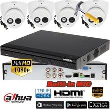 Dahua HCVR5104HS-S3 4ch CVI Security Camera System 2Megapixel 1080P Waterproof HDCVI IR Eyeball audio Camera HAC-HDW1220EM-A