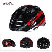 Babaali Велосипедные шлемы Сверхлегкий Велосипедные шлемы в плесень MTB велосипеда шлем светодиодный индикатор Дорога Гора шлем