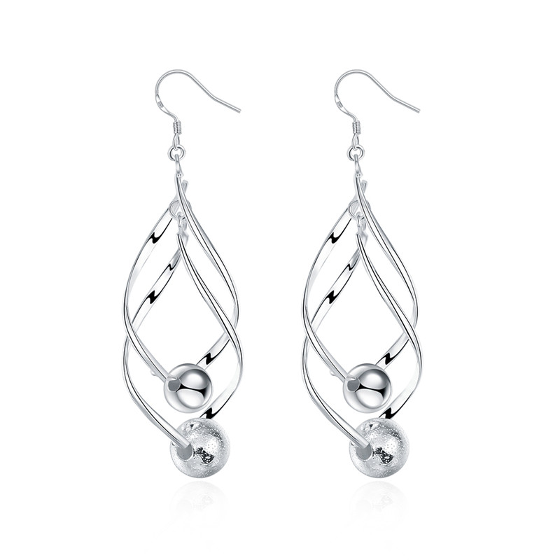 Selling silver jewelry drop earrings fashion new design