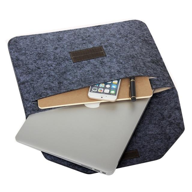 2017 soft wool felt laptop bag for coque macbook air 13 sleeve laptop case for mac book air pro