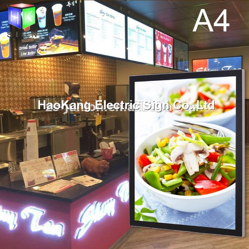 Commercial Lighting Restaurant Led Menu Signage Aluminum Frame Slim Led Advertising Light Boxes 60x80cm For Restaurant/fast Food Store