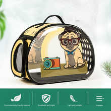 Portable Transparent Pet Carrier for Cats Dogs Pet Kennel Dog Pet Carrier Bag Pet Travel Carrier pet rolling luggage carrier purple