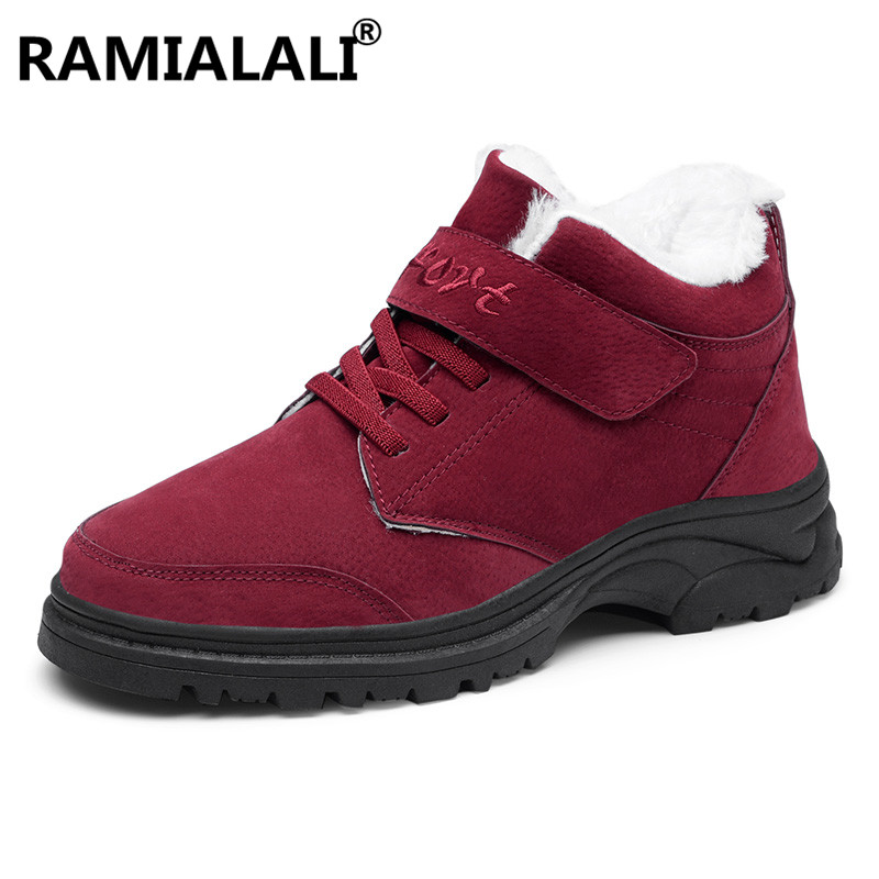 Chaussures Cheville Lacets Neige Plate Mujer Dames Ramialali