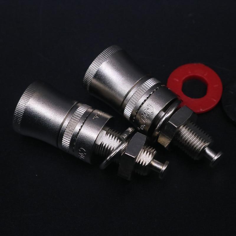 4pcs Price 868S HIFI DIY Pure Copper Nickel Plated Electronic Banana Plug Female Socket Binding Post Terminal Connector