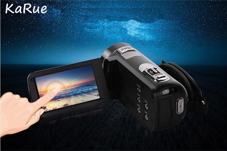 Karue HDV-Z816x Digital Zoom Max. 24MP 1080P Full HD Digital Video Camera Camcorder with Digital Rotation LCD Touch Screen 2