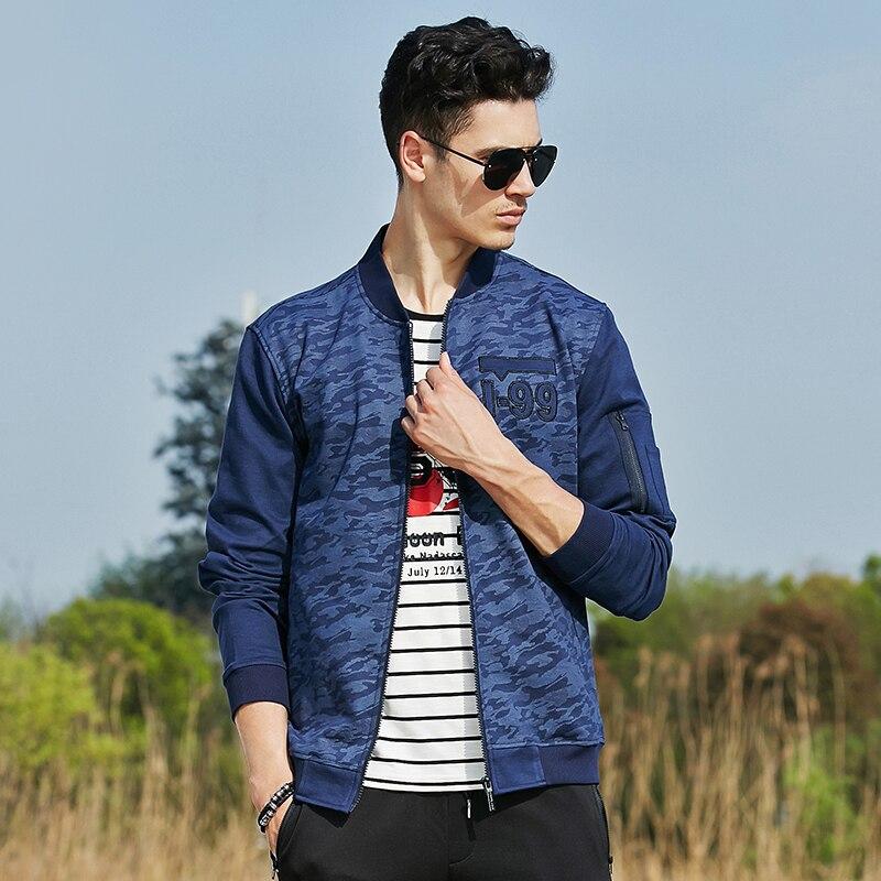 Пионерский лагерь весна-осень синий камуфляжная куртка мужская брендовая  качественная одежда эластичные Военный стиль мужской пиджак пальто 620039    Куртки ... 3e32b613bb9