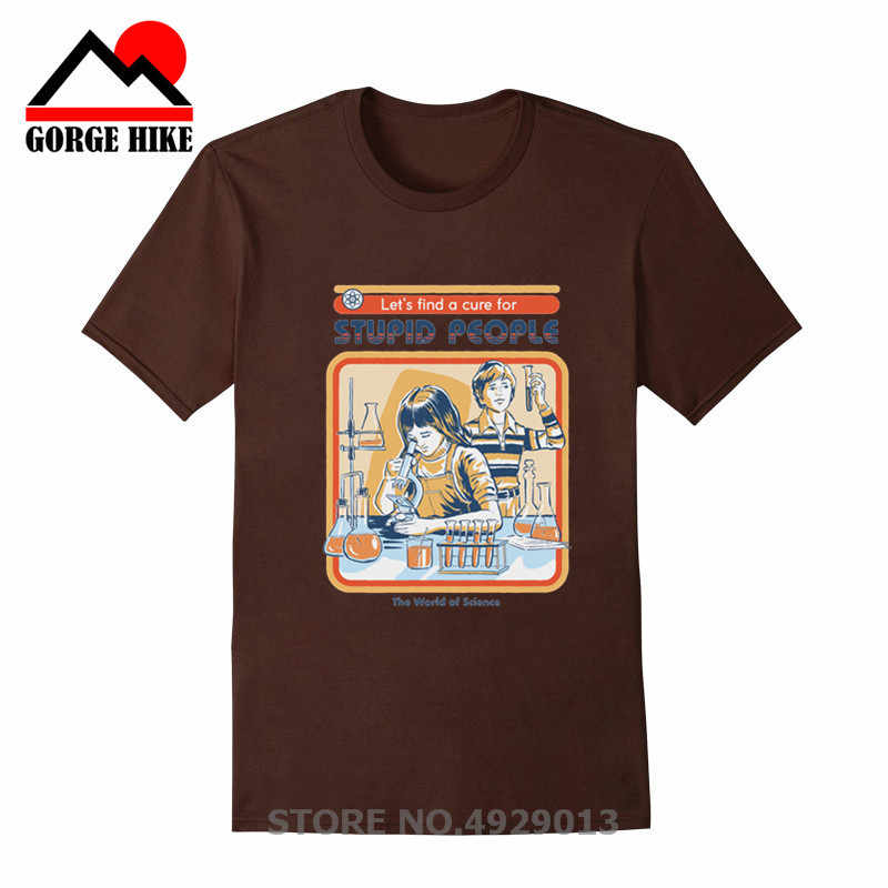 레트로 과학 바보 같은 사람들을위한 치료 인쇄 재미 있은 t 셔츠 화학 실험 탑 tshirt homme mens t shirts ropa de hombre
