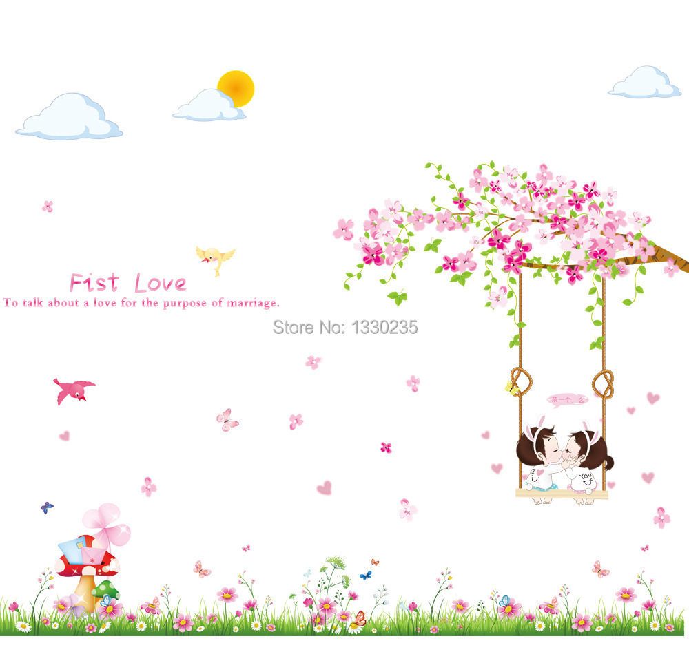 Flower cartoon wallpaper for Wallpaper home cartoon