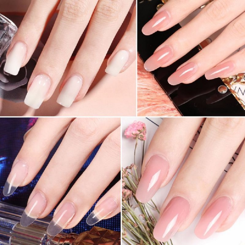 Nail Extension Crystal Jelly Nail Gel UV LED Hard Gel Acrylic ...