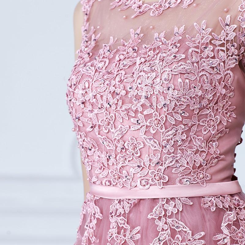 SOCCI vikend ružičasti appliques čipka til duga večernja haljina - Haljina za posebne prigode - Foto 4