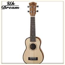 21-inch Wood Color Picea Asperata Veneer Wooden Guitar Ukulele Hawaii Small Guitar 4 String Guitar Musical Instruments US-52A kmise tenor ukulele mahogany ukelele 26 inch uke aquila string 4 string hawaii guitar