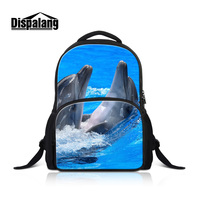 Dispalang Dolphin Backpacks For College Women Travel Rucksack 17 Inch Canvas Schoolbags For Students Animal Bookbags Pack Rugtas