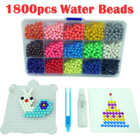 Multicolor Water Hama Beads Toys Sticky Perler Beads Pegboard Set Fuse Beads Jigsaw Puzzle Water Beadbond
