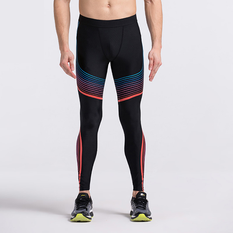 Men Yoga Compression Pants Elastic Tights Male Exercise ...