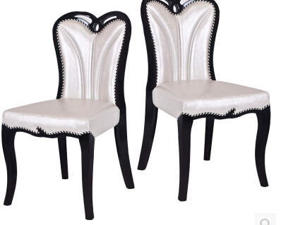 Korean real wood chair fashion wedding dress shop chair sales of solid wood PU club nail household white chairs negotiations