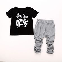 Fashion Kids Baby Boys Short Sleeve Tops T shirt Pants Summer Outfits Clothes Kid Boy Costumes
