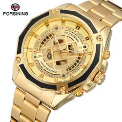 FORSINING High-end Automatic Movement Stainless Steel Band Luxury Brand Skeleton Wholesale Wristwatches for Various occasions