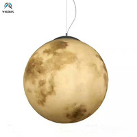 Art Deco Ronde Moon Led Hanglamp Verf Hars Led opknoping Lamp voor Eettafel Luminarias Lamparas voor Gang Drop licht