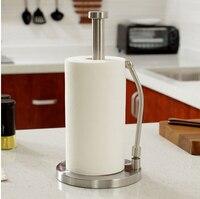 stainless steel kitchen paper holder European paper roll holder double bar towel rack bathroom tissue box