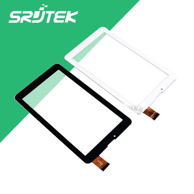 Srjtek New 7'' inch touch screen For Supra M728G M727G Tablet Touch panel Digitizer Glass Sensor Replacement High Quality black new for 9 inch supra m929 tablet touch screen panel digitizer glass sensor zhc k90 093a replacement free shipping