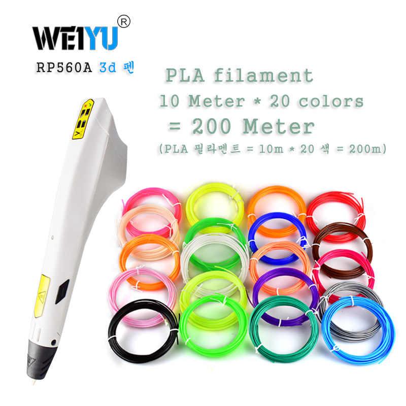 Model Baru 3D Pena Coretan Pena PLA ABS Filamen 3D Printer Hadiah Natal Lapiz 3D Printing Pen untuk Sekolah 3D pensil Gadge