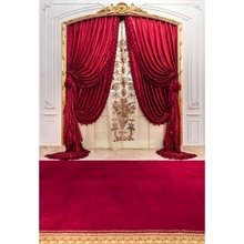 Laeacco Red Carpet Curtain Chic Wall Party Stage Wedding Baby Portrait Photo Backgrounds Photography Studio