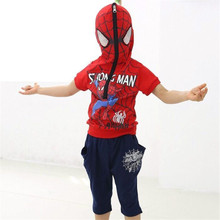 Top Boys Clothing set Baby Boy Spider man Sports Suits 2-6 Years Kids 2pcs Sets Spring Autumn Clothes Tracksuits