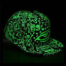 2017 Fashion Women Men Luminous caps cotton Fluorescence hip hop snapback Luminous baseball cap Light In Dark Night hat Gorras