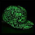 Мода Женщины Мужчины Флуоресценции хип-хоп Поло шляпы Световой Gorras Спорта Бейсболки Casquette Свет В Темную Ночь snapback hat