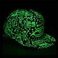 Moda Das Mulheres Dos Homens De Fluorescência hip hop Polo chapéus Casquette Gorras Bonés de Beisebol Esporte Luminosa Luz Em Noite Escura chapéu snapback