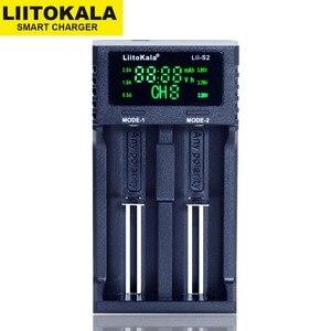 Image 2 - 新しいliitokala Lii S2 18650バッテリー充電器1.2v 3.7v 3.2v aa/aaa 26650 21700ニッケル水素、リチウムイオン電池スマート充電器 + 5v 2Aプラグ