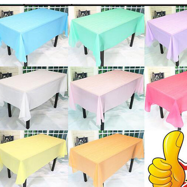 180cm 108cm Birthday Party Decoration Items Table Linen Tablecloth Monochromatic Multi Color Optional