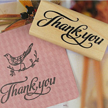 Thank You Wood Stamps DIY Scrapbooking Thank You Wooden Rubber Stamp Craft Handmade Wooden Stamp For Home Decor