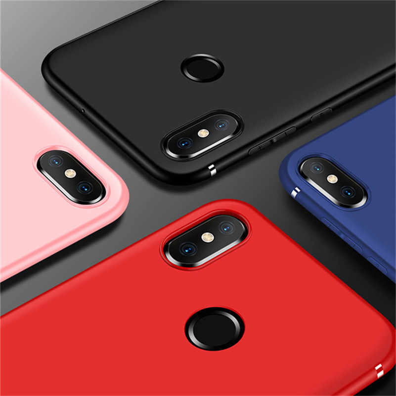 Матовая TPU крышка для Xiaomi mi 8 Lite SE красный mi Примечание 5 Чехол 5x A1 6X A2 Lite mi x 2 s 2 6A 6 Pro S2 4X4 4A 5A 5 плюс подушка безопасности случаях
