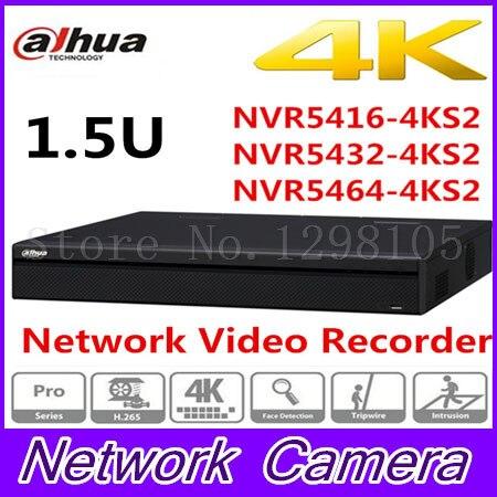 dahua p2p 4k nvr 4ch 8ch 16ch video recorder nvr4104hs 4ks2 nvr4108hs 4ks2 nvr4116hs 4ks2 h 265 8mp resolution Original DaHua 16/32/64 Channel 1.5U 4K Network Video Recorder NVR5416-4KS2 NVR5432-4KS2 NVR5464-4KS2,free Shipping.