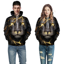 3D Lion Hoodies Lovers Couples Streetwear Hip Hop Hoodies For Men Women Outdoor Sport Gym CoatHoody Pullovers Outfits 5XL(China)