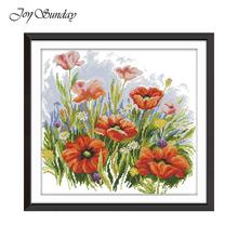 Joy Sunday Cross Stitch Kits Embroidery Needlework Sets DMC Beautiful Flower 11CT 14CT Counted Printed Canevas Broderie Kit