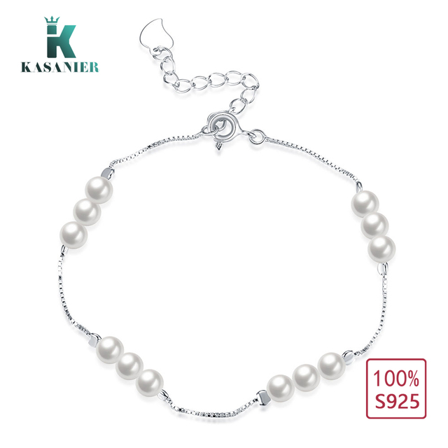 Kasanier Personality New 925 Sterling Silver Bracelet Female Simple