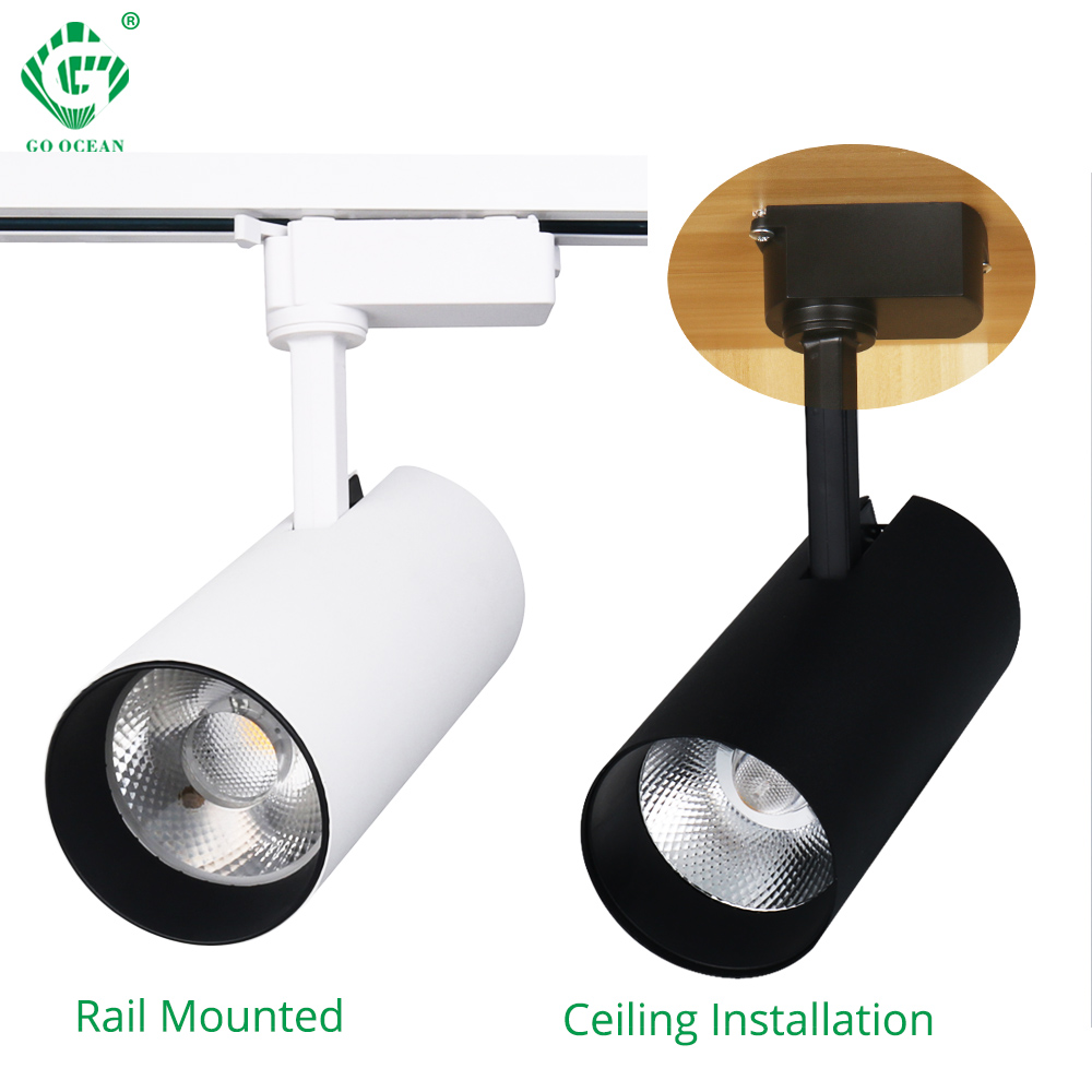 Showcase Black Led Track Light Luminaria Bar Exhibition Room Led Iron Ceiling Picture Light Exclusive Store Advertise Spotlight Attractive Fashion Lights & Lighting