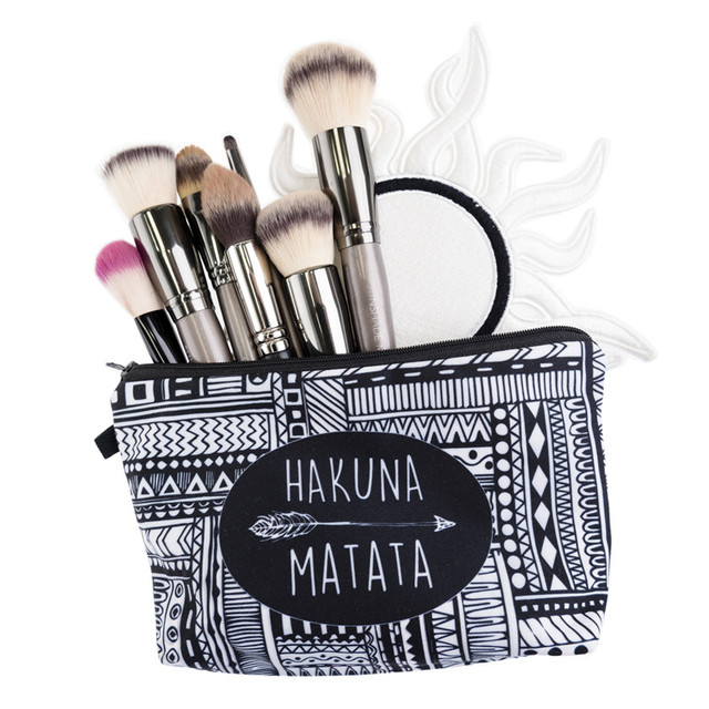 3D Printing Makeup Pattern Cute Cosmetics Pouch Cosmetic Bag