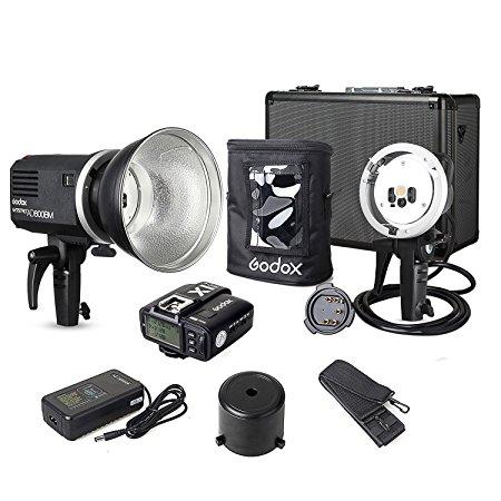 Godox Kit AD600BM{Including X1T-C Transmitter, AD-H600B Mount, AD-R6 Reflector,PB-600 Bag} 1/8000s Non-TTL Manual 600W for Canon godox v860iic v860iin v860iis x1t c x1t n x1t s hss 1 8000s gn60 ttl flash speedlite 2 4g transmission godox softbox filter